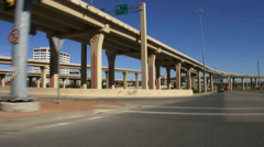 Drive across High Five Highway intersection in Richardson Texas Stock Footage
