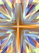 Stock Illustration of religious cross starburst background