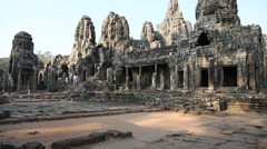 Angkor Thom temple complex in Cambodia Stock Footage
