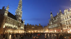 Grand Place, Brussels Stock Footage