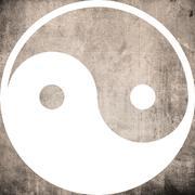 Ying yang symbol of harmony and balance - stock illustration