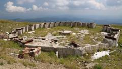 The ruins of an astronomical observatory in Carpathian Mountains, Ukraine Stock Footage