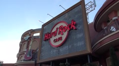 Hard Rock Cafe Sign Stock Footage