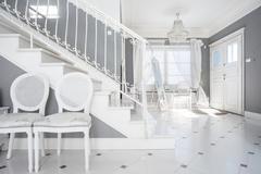 white and gray design - stock photo