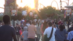 People Walking to and from Islands of Adventure Stock Footage