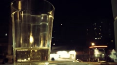 Time lapse of beer in front of intense traffic in SP, Brazil Stock Footage