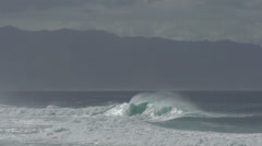 No People Slow Motion Pipeline Wave, on Oahu, North Shore, Hawaii, 240fps Stock Footage