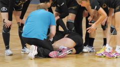 Handball Injury Womens Stock Footage