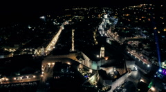 Dubrovnik old town street Placa by night. Stock Footage