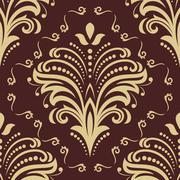 Pattern in the style of Baroque. Abstract Vector Background Piirros