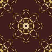 Floral Seamless Vector Pattern. Orient Abstract Floral Background Stock Illustration