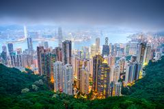 Hong kong, china city skyline Stock Photos