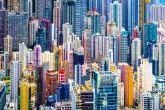Dense hong kong buildings Stock Photos