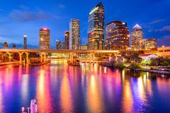 Tampa, florida skyline Stock Photos
