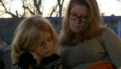 Kid reading story at night 4K Ultra HD Stock Footage