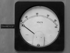 Old volt meter Stock Photos