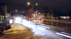 Time lapse of Helsinki rush hour Stock Footage