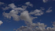 Stock Video Footage of 4K Fly Through Clouds Blue Sky Time Lapse