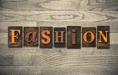 Fashion wooden letterpress concept Stock Photos