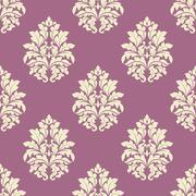 Stock Illustration of seamless lush blooming damask floral pattern