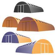 hangar - stock illustration