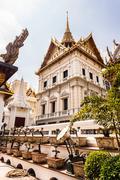 bonsai trees in the wat phra kaew temple - stock photo