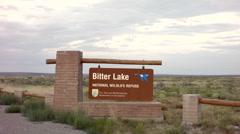 Bitter lake national wildlife refuge sign timelapse Stock Footage