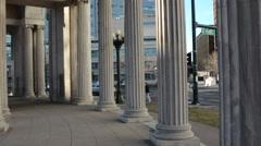 Greek or Roman Columns Stock Footage