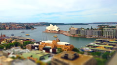 Timelapse Sydney Opera House Circular Quay Manly Ferry Afternoon Clouds Rolli Stock Footage