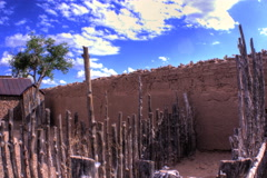 Adobe Wall timelapse Stock Footage