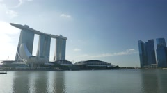 4K Panning of Singapore Riverfront Stock Footage
