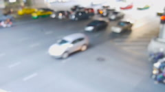 Speed video of de focus traffic Stock Footage