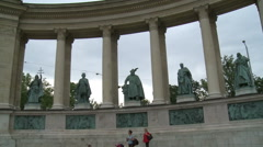 Budapest Monument Far View - stock footage