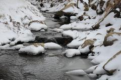Twin Falls in Idaho City Stock Photos