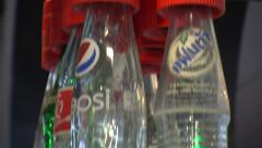 Bottling Plant Soda Pop Bottles Beverage Production 8198 Stock Footage