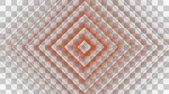 Rhombus golden stripe with alpha  Stock Footage