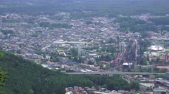 City Near Mt Fuji Aerial View 4K Stock Footage