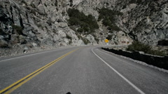 Driving Plates Mountains Snow CAM1 Front 12 Forest California Tunnel Stock Footage