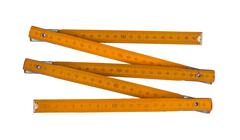 Carpenter's rule with centimeters numbers, isolated over white Stock Photos