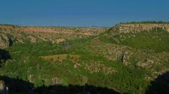 Panorama of the Manojlovac waterfall at Krka river Stock Footage