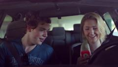 Teens Text While Driving Stock Footage