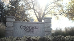 Colorado State University Sign Stock Footage