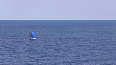Blue sea, ocean with waves on the horizon Stock Footage