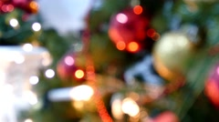 Christmas Tree Lights as a texture Stock Footage