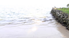 Beach on the Island of Yap Stock Footage