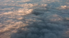 stratocumulus in the morning aerial pov - stock footage