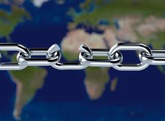 broken chain - stock illustration