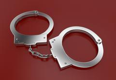handcuffs - stock illustration