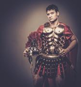 Stock Photo of roman legionary soldier in amour