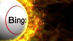 Fiery Bingo Ball Stock Footage